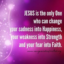 JESUS is the only One 