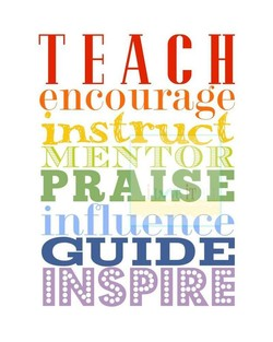 encourage PRAISE influ ence GUIDE INSPIRE