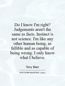 Do I know I'm right? 