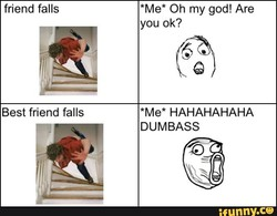 friend falls 