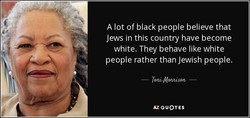 A lot of black people believe that 