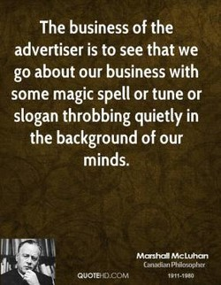 The business of the 