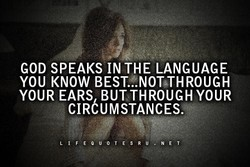 GOD SPEAKS IN THE LANGUAGE 