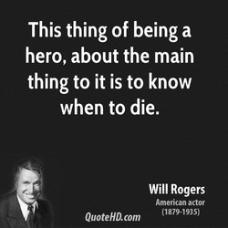 This thing of being a 