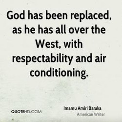 God has been replaced, 