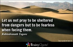 Let us not pray to be sheltered 