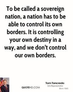 To be called a sovereign 