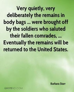 Very quietly, very