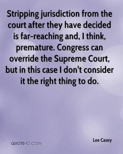 Stripping jurisdiction from the 