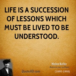 LIFE IS A SUCCESSION 