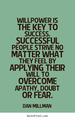 WILLPOWER IS 