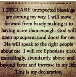 I DECLARE unexpected blessinp 