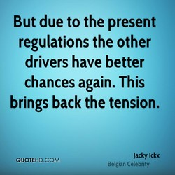 But due to the present 