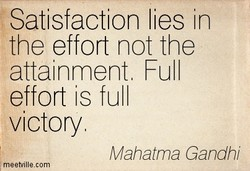 Satisfaction lies in 