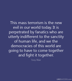 This mass terrorism is the new 