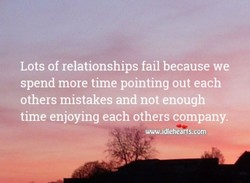 Lots of relationships fail because we 