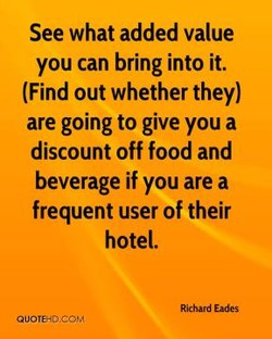 See what added value 