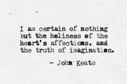 I certain of nothing 
