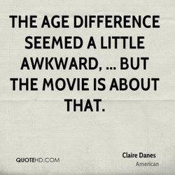 THE AGE DIFFERENCE 