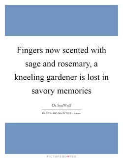Fingers now scented with 