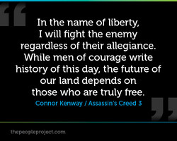In the name of liberty, 