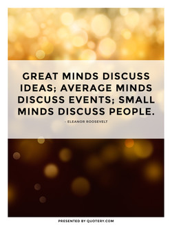 CREAT MINDS DISCUSS 