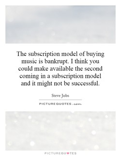 The subscription model of buying 
