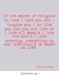 At the center of religion 