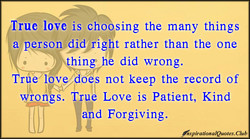 True love is choosing the many things 