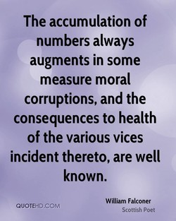 The accumulation of 