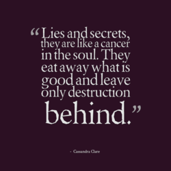 Lies and secrets, 