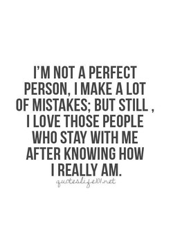 I'M NOT A PERFECT 