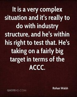 It is a very complex 