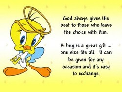 God always gives His 