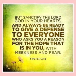 BUT SANCTIFY THE LORD 