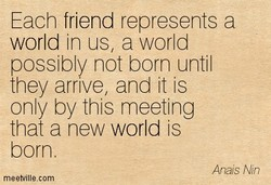 Each friend represents a 
