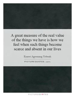 A great measure ofthe real value 