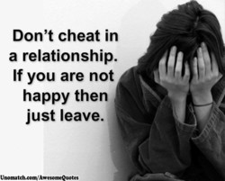 Don't cheat in 
