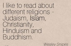 I like to read about 