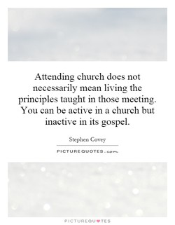 Attending church does not 