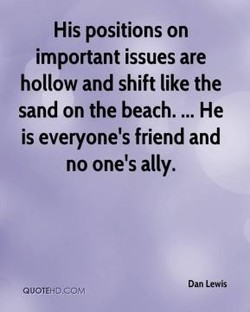 His positions on 