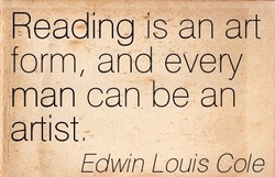 Reading 'IS an art 