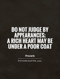 DO NOT JUDGE BY 