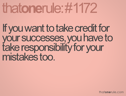 If you want to take credit for 