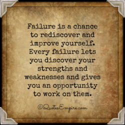 Failure is a chance 