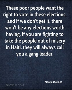 These poor people want the 