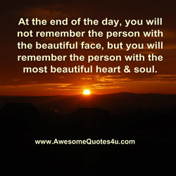 At the end of the day, you will 