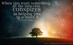 When you want something 
