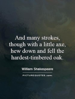 And many strokes, 