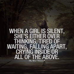 WHEN A GIRL IS SILENT, 